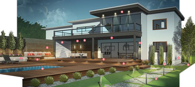 clairage d 39 am nagement ext rieur 101 multi luminaire. Black Bedroom Furniture Sets. Home Design Ideas