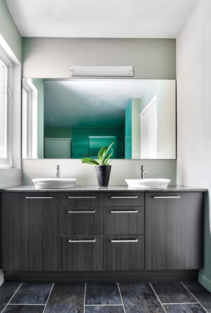 Salle de bain murale vanit contemporain luminaires multi luminaire - Luminaire miroir salle de bain ...