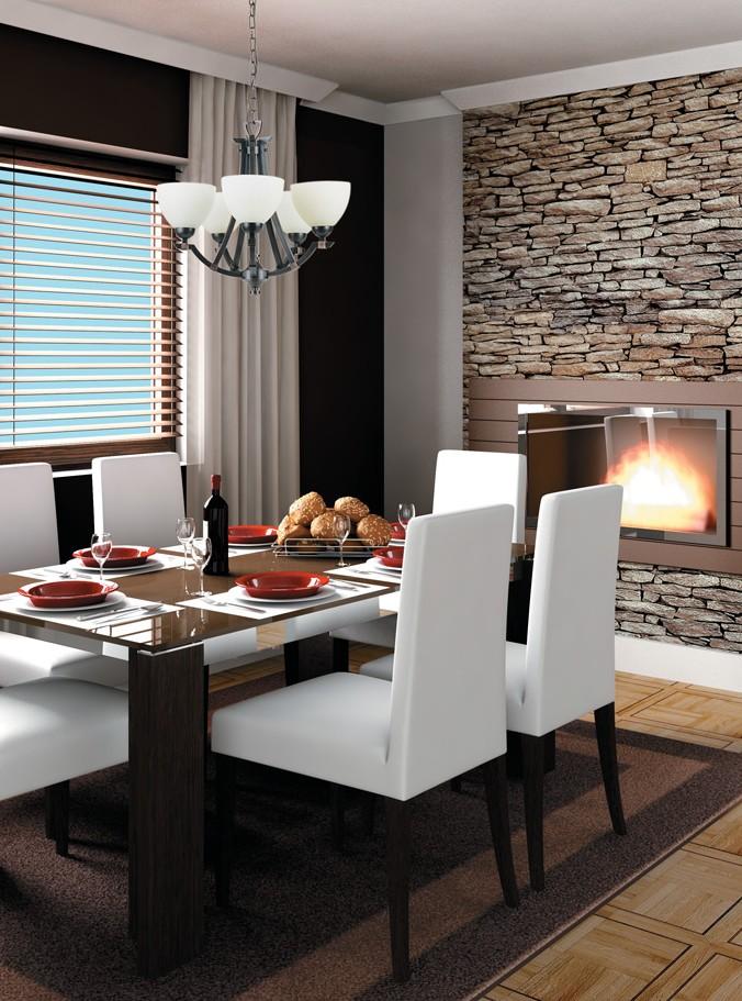 salle manger lustre contemporain foyer luminaires multi luminaire. Black Bedroom Furniture Sets. Home Design Ideas