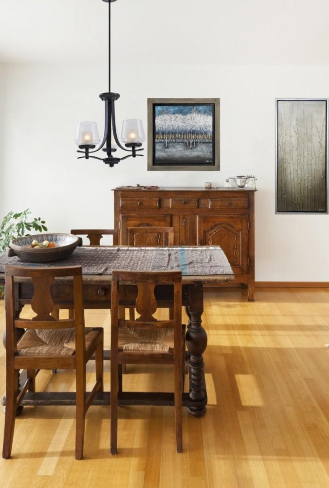 salle manger lustre transitionnel luminaires multi luminaire. Black Bedroom Furniture Sets. Home Design Ideas