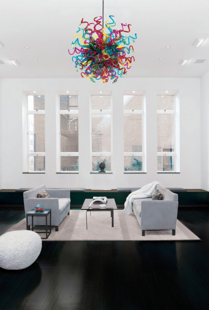 salon suspendu moderne multicolore luminaires multi luminaire. Black Bedroom Furniture Sets. Home Design Ideas