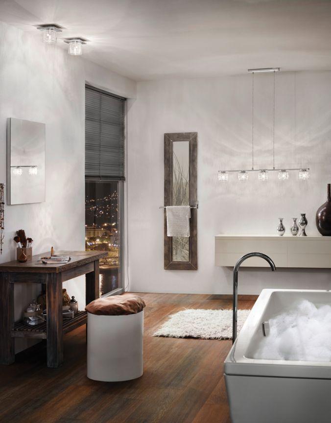 salle de bain plafonnier suspendu contemporain. Black Bedroom Furniture Sets. Home Design Ideas