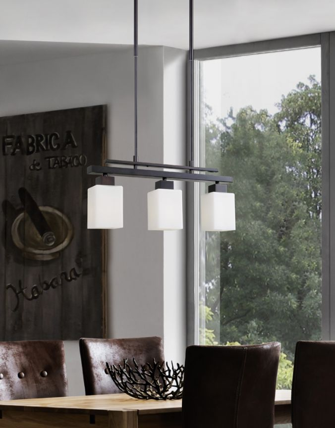 salle a manger suspendu contemporain multi luminaire. Black Bedroom Furniture Sets. Home Design Ideas