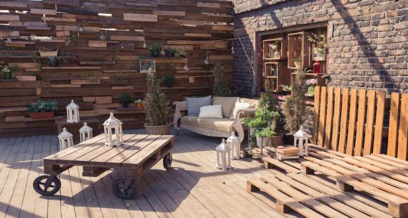 Concevez vos meubles extérieurs en bois de palette !