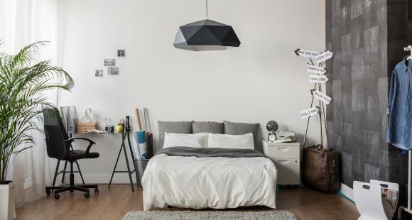 Lumière sur la chambre à coucher