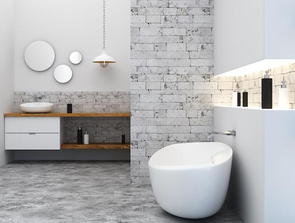 Tendance salle de bain 2020 multi luminaire - Tendance couleur salle de bain 2020 ...